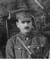 Thomas G. Forshaw, Detail, [Group portrait of] the officers, 1st British Columbia Regiment, Canadian Expeditionary Force, Vancouver City Archives, LP 363, http://searcharchives.vancouver.ca/group-portrait-of-officers-1st-british-columbia-regiment-canadian-expeditionary-force