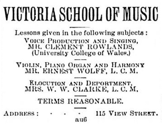 """Victoria School of Music,"" Victoria Daily Colonist, October 7, 1893, page 5, http://archive.org/stream/dailycolonist18931007uvic/18931007#page/n3/mode/1up"