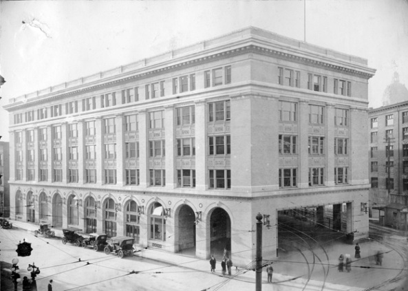 B.C. Electric Railway building at 435 Carrall Street (at Hastings), about 1912, Vancouver City Archives, M-14-71, http://searcharchives.vancouver.ca/index.php/b-c-electric-railway-companys-building.