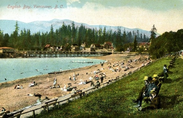 English Bay - postcard - after 1908