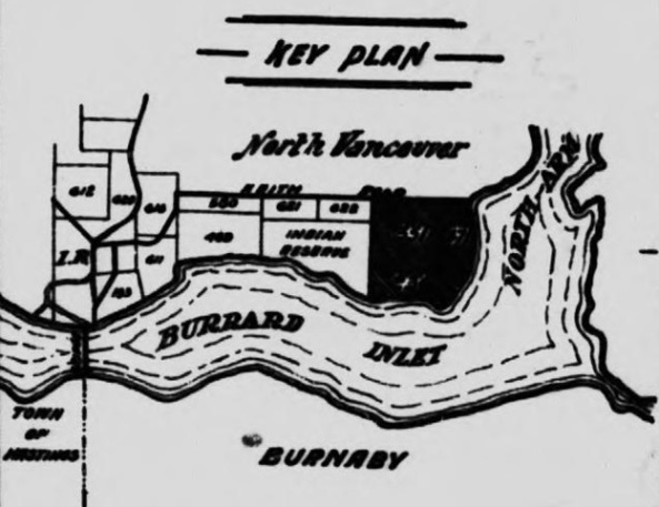 Key plan, Rosslyn pamphlet, Seattle, Washington: The Imperial Car, Shipbuilding and Dry Dock Corp. 1910, detail of map, https://archive.org/stream/cihm_76822#page/n55/mode/1up.