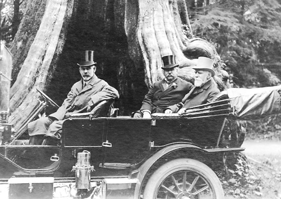 Mr. C.C. Chipman, His Worship C.S. Douglas and Lord Strathcona in front of the Hollow Tree at Stanley Park; May 31, 1909; Vancouver City Archives, Port P1204, http://searcharchives.vancouver.ca/index.php/mr-c-c-chipman-his-worship-c-s-douglas-and-lord-strathcona-in-front-of-hollow-tree-at-stanley-park