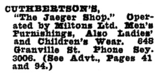 Cuthbertson's - Wrigley's British Columbia Directory - 1928 - page 985