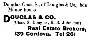 Douglas and Company - Henderson's BC Gazetteer and Directory - 1891 - page 400