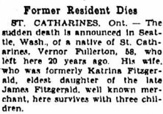 """Former Resident Dies,"" Niagara Falls Gazette, January 28, 1942, page 18; http://fultonhistory.com/newspaper%208/Niagara%20Falls%20NY%20Gazette/Niagara%20Falls%20NY%20Gazette%201942%20Jan-Mar%20Grayscale/Niagara%20Falls%20NY%20Gazette%201942%20Jan-Mar%20Grayscale%20-%200245.pdf"