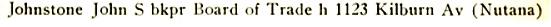 Henderson's Saskatoon city directory, volume 6 (1913), page 123, http://peel.library.ualberta.ca/bibliography/3177.2.4/117.html.