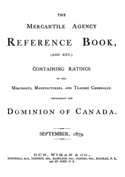 The Mercantile Agency Reference Book, 1879, Title page; https://archive.org/stream/cihm_59107#page/n8/mode/1up