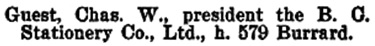 Henderson's BC Gazetteer and Directory, 1900-1901, page 825