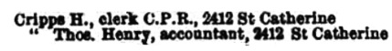 Montreal City Directory, 1891-1892, page 467.