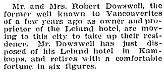 Social and Personal, Victoria Daily Colonist, February 2, 1910, page 10, http://archive.org/stream/dailycolonist19100202uvic/19100202#page/n9/mode/1up