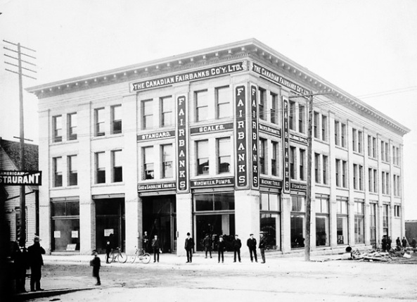 Exterior of The Canadian Fairbanks Co. Ltd. - 101 Water Street, October 1905, Vancouver City Archives, Bu P504.3, http://searcharchives.vancouver.ca/index.php/exterior-of-canadian-fairbanks-co-ltd-101-water-street