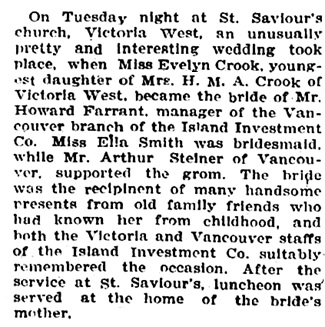 Victoria Times, February 23, 1911, page 10; https://familysearch.org/pal:/MM9.3.1/TH-1971-28092-11739-35?cc=2001136&wc=M61J-H36:284757301
