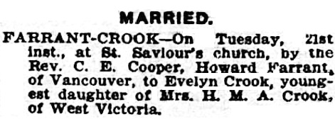 Victoria Times, February 22, 1911, page 2; https://familysearch.org/pal:/MM9.3.1/TH-1971-28092-11643-42?cc=2001136&wc=M61J-H36:284757301