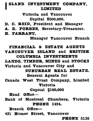 Henderson's City of Vancouver and North Vancouver Directory, 1910, Part 2, page 832