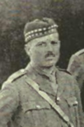 Lt. A.B. Fraser, detail from Original Officers, 72nd Battallion, Seaforth Highlanders of Canada, History of the 72nd Battalion, Seaforth Highlanders of Canada, Bernard Mc Evoy and A.H. Finlay, Vancouver, Cowan and Brookhouse, 1920, between pages 2 and 3; http://www.waughfamily.ca/Orr/SeaforthHighlandersBook.pdf