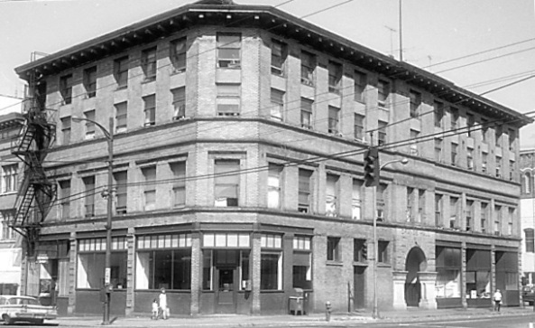 Orange Hall [341 Gore St.], Vancouver City Archives, CVA 447-84, 1971, [cropped], http://searcharchives.vancouver.ca/index.php/orange-hall-341-gore-st.