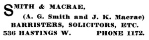Henderson's City of Vancouver Directory, 1905, page 434