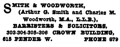 Henderson's City of Vancouver and North Vancouver Directory, 1910, part 2, page 1133
