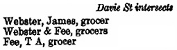 [Seymour Street], Williams' British Columbia Directory, 1891, Part 2, page 159