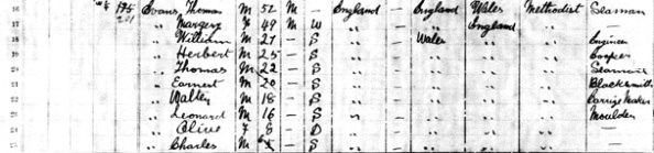 "Thomas Evans - ""Canada Census, 1891,"" database, FamilySearch (https://familysearch.org/ark:/61903/1:1:MWK3-HH5 : accessed 29 July 2015), Thomas Evans, Vancouver City, New Westminster, British Columbia, Canada; Public Archives, Ottawa, Ontario; Library and Archives Canada film number 30953_148093; http://data2.collectionscanada.gc.ca/1891/pdf/30953_148093-00278.pdf."