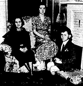 """Will Leave Next Saturday for New York,"" Victoria Daily Colonist, January 12, 1938, page 7; https://archive.org/stream/dailycolonist0138uvic_7#page/n6/mode/1up. [Mrs. Arthur J. Fenton, Miss Rosemary Farrow, and Gordon Fenton (Mrs. Fenton's son).]"