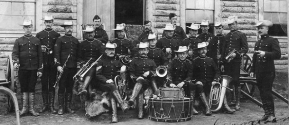 Yukon Field Force Band, Dawson, May 1900 (Creation), Vancouver City Archives, Mil P269, http://searcharchives.vancouver.ca/yukon-field-force-band-dawson