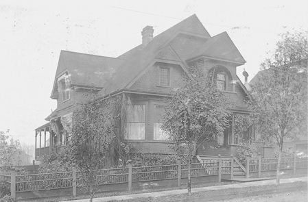 1361 Nicola Street – postcard – 1908- private collection
