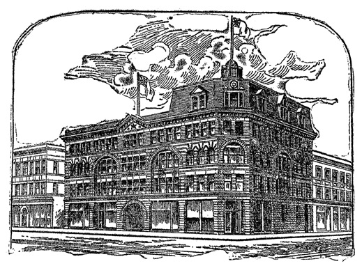 MacKinnon Building, Corner of Granville and Hastings Streets, Vancouver, B.C., Vancouver World, November 24, 1897, page 2.