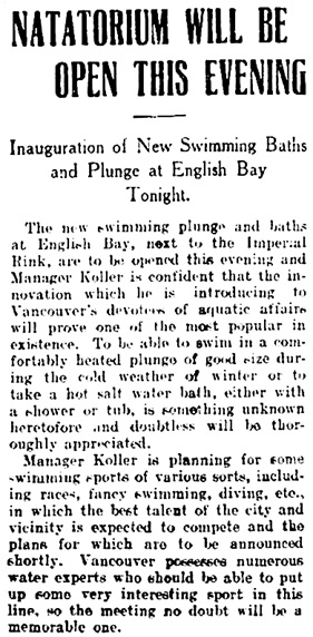 Vancouver Daily World, February 2, 1909, page 13.