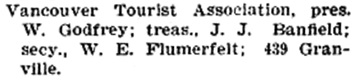 Henderson's City of Vancouver Directory, 1905, page 462