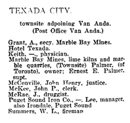 Henderson's BC Gazetteer and Directory, 1901, page 262
