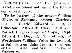 Victoria Daily Colonist, December 7, 1900, page 8, http://archive.org/stream/dailycolonist19001207uvic/19001207#page/n7/mode/1up