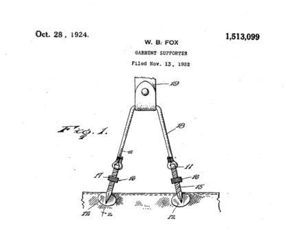 Willoughby Beresford Fox, Garment Supporter, United States Patent 1513099; http://www.google.ca/patents/US1513099.