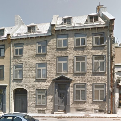 19, Rue Ste-Angèle, Quebec City, Google Streets, searched October 1, 2015; image dated May 2012.