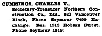 Henderson's Greater Vancouver City Directory, 1917, page 449