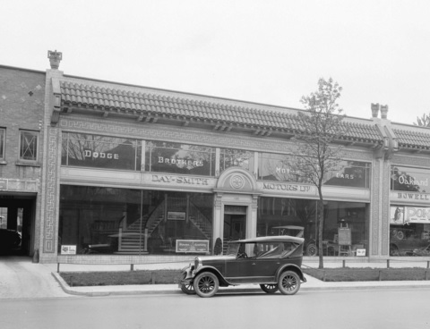 Day-Smith Motors Limited, 1126 Georgia Street, May 1927; Vancouver City Archives, Bu N300; http://searcharchives.vancouver.ca/day-smith-motors-ltd-showroom-building-on-110-block-of-georgia-street