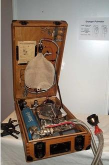 "Dräger, ""Pulmotor"" Resuscitator; http://www.char-fr.net/SITE/IMG/jpg/PULMOTOR_1.jpg"