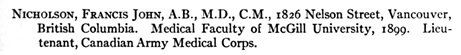 Yearbook, American College of Surgeons, Chicago, 1914, page 413; https://archive.org/stream/yearbook191819ameruoft#page/413/mode/1up