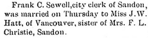 Ledge (New Denver), December 21, 1899, page 1; http://historicalnewspapers.library.ubc.ca/view/collection/nakledge/date/1899-12-21#1