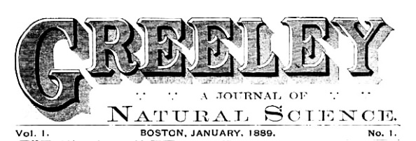 Greeley - Journal of Natural Science