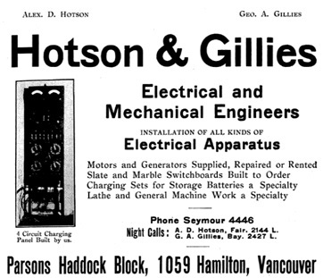 Henderson's Greater Vancouver City Directory, 1914, Part 1, page 149