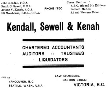 Directory of Vancouver Island, 1909, page 27; http://www.mocavo.co.uk/Directory-of-Vancouver-Island-and-Adjacent-Islands-1909/263324/31.
