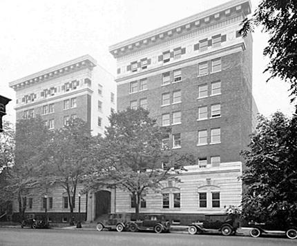 St. Julien apartments [1040 West Georgia], about 1923, Vancouver City Archives, CVA 99-1411; http://searcharchives.vancouver.ca/index.php/st-julien-apartments-1040-west-georgia.