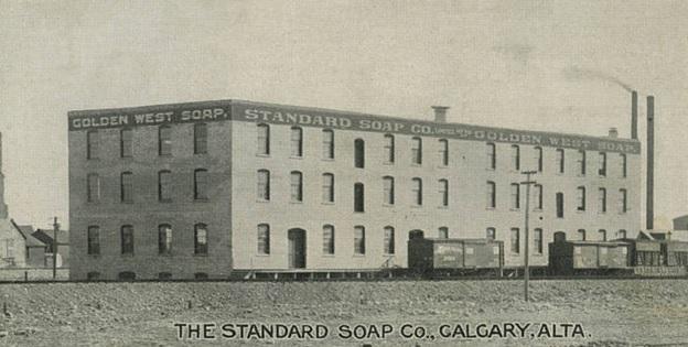 Standard Soap Company, Calgary, Alberta, postcard, Calgary Public Library; http://cdm16114.contentdm.oclc.org/cdm/ref/collection/p280501coll15/id/2994.