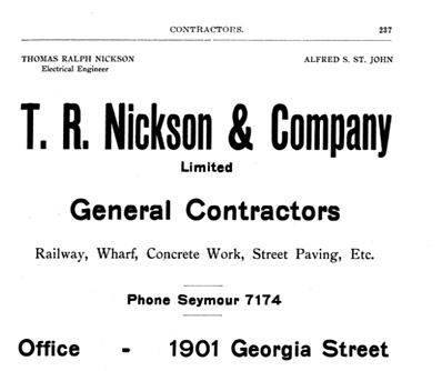 Henderson's Greater Vancouver Directory, 1912, Part 1, page 237