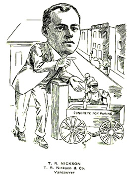 T. R. Nickson - T. R. Nickson & Co. - Vancouver BC; Newspaper Cartoonists Association of British Columbia - British Columbians As We See 'Em. (about 1911) (unpaged); https://archive.org/stream/britishcolumbian00newsrich#page/n149/mode/1up.