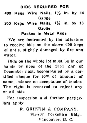 British Columbia Record, December 20, 1918, page 4; https://open.library.ubc.ca/collections/bcnewspapers/xbcrecord/items/1.0170711#p3z0r0F:%22f%20griffin%22