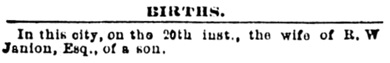 Victoria Daily Colonist, March 21, 1877, page 3, column 1; http://archive.org/stream/dailycolonist18770321uvic/18770321#page/n2/mode/1up