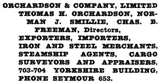 Henderson's Greater Vancouver Directory, 1923, page 1054