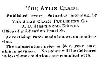 Atlin Claim, December 22, 1900, page 2; https://open.library.ubc.ca/collections/bcnewspapers/xatlin/items/1.0169372#p1z1r0f: